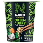 NAKED Noodle Thai Style Green Curry Egg Noodles Pot, 78g (Pack of 6)
