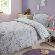 DREAMSCENE MAGICAL UNICORN DUVET COVER SET - PURPLE - Only £3!