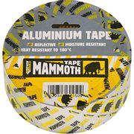 Everbuild Mammoth Aluminium Tape, Heat Light Reflective, Silver, 100 Mm X 45 M