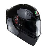 AGV K1 Solid Full Face Motorcycle Helmet, Black, S