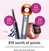 £10 worth of Points for Every £60 You Spend on Electrical Beauty and Fitbit