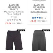 Eastern Mountain Products from 26p at Sports Direct