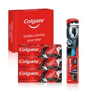 Colgate Bundle Kit - 360 Degree Deep Clean Charcoal Whitening Toothbrush