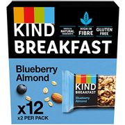 BEST EVER PRICE KIND Breakfast Cereal Bars, Blueberry Almond, 24 Bars