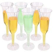 Belinlen 60 Pack 5.5 Oz Clear Plastic Champagne Glass