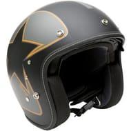 *SAVE over £24* Duchinni Open Face Motorcycle Helmet - Matt Black/Orange