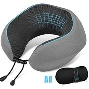 Memory Foam Neck Pillow + Ear Plugs & Sleep Mask Only £5.99 (Prime Delivery)