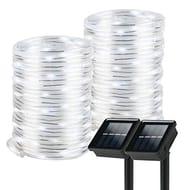 50% Off - 2 X 12M Solar Rope Light Strips - White Or Warm White - £8.99 (Prime)