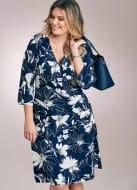 Save 60% Mono Floral Print Wrap Dress