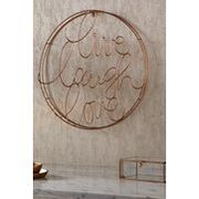 Live Laugh Love Gold Metal Wall Art