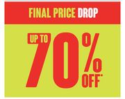 FINAL PRICE DROP/ UP to 70% SALE ONLINE ONLY