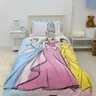 Disney Princess Classics Single Panel Reversible Duvet Set