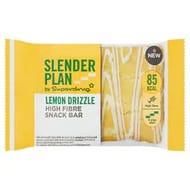 Superdrug Slender Plan Lemon Fibre Brownie Snack Bar 24g