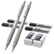 Metal Mechanical Pencils Set, Automatic Pencil 0.5 Mm and 0.7 Mm with HB Leads