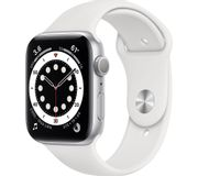 APPLE Watch Series 6 - Silver Aluminium with White Sports Band, 44 Mm 4 Colours