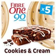 Fibre One 90 Calorie Cookies & Cream Drizzle Squares 5x24g