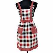 Clacce Women's Apron with 2 Pockets, Adjustable Ties Sexy Cute