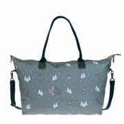 Skiing Oilcloth Oundle Weekend Bag
