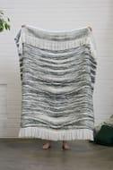 Reversible Grey Throw Blanket
