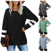 50% off Long Sleeve Casual Colour Block Pullover