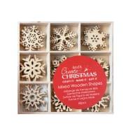 Snowflakes Small Wooden Shapes 45pcs