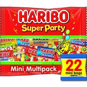 Haribo Mini Bag Sweets, Starmix Tangfastics Supermix Goldbears, 16g X 22 Bags