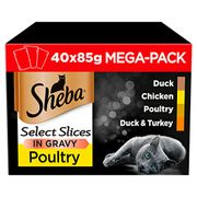 Sheba Select Slices in Gravy cat food pouches for adult cats - Only £11.99!