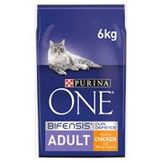 Purina ONE Adult Cat Food Chicken & Wholegrains at Amazon