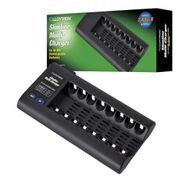 Lloytron 8 Bay Battery Charger for AAA and AA Rechargeable Batteries