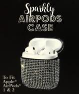 Silver Diamante Airpods Case