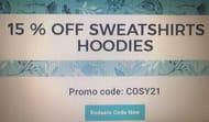 15% off Sweatshirts + Hoodies