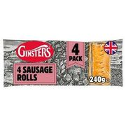Ginsters Sausage Rolls X4 240g