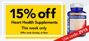 15% off Heart Health Supplements