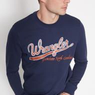 Wrangler - Navy Logo Sweater
