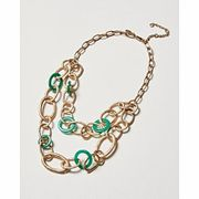 Laura Multi Loop Green Layered Collar Necklace
