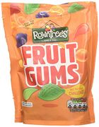 Rowntrees Fruit Gums Sweets Sharing Pouch, 150 G - Pack of 10
