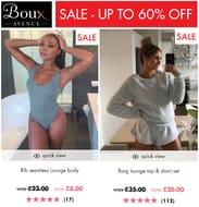 Boux Avenue SALE - up to 60% off LOUNGEWEAR & LINGERIE