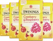 BEST EVER PRICE Twinings Cranberry and Raspberry 80 Tea Bags Pack of 4