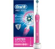 *SAVE £34* ORAL B Pro 2000 Electric Toothbrush - Pink