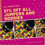 21% off Jumpers&Hoodies at Project Ilai (Black Owned Fashion)