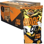 48 X Seabrook Ridge Cut Cheese & Onion Flavour Crisps 25g Packs