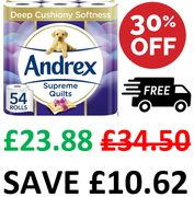 LOVE YOUR BUM! Andrex Supreme Quilts - 54 Toilet Rolls