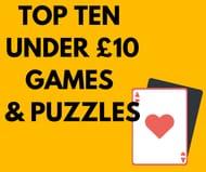 Top 10 Under £10 Board Games & Puzzles