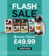 Flash Sale - 8 Boxes Of Pods + A Dolce Gusto Coffee Machine - £49.99