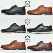 Red Tape REAL LEATHER Mens Brogue Shoes from £9.99 RRP £54.99
