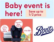 Special Offer - Boots BABY EVENT - Up to 1/2 Price Baby Deals