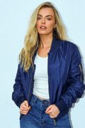 Navy Zip up Puffer Jacket