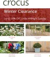 ENDS SUNDAY - Crocus Gardening Clearance Sale