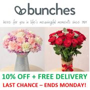 10% OFF FLOWERS & FREE DELIVERY - Last Chance! Ends Monday! From £16