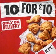 KFC 10 Pieces of Chicken for £10 - Uber Eats, Deliveroo & Just Eat